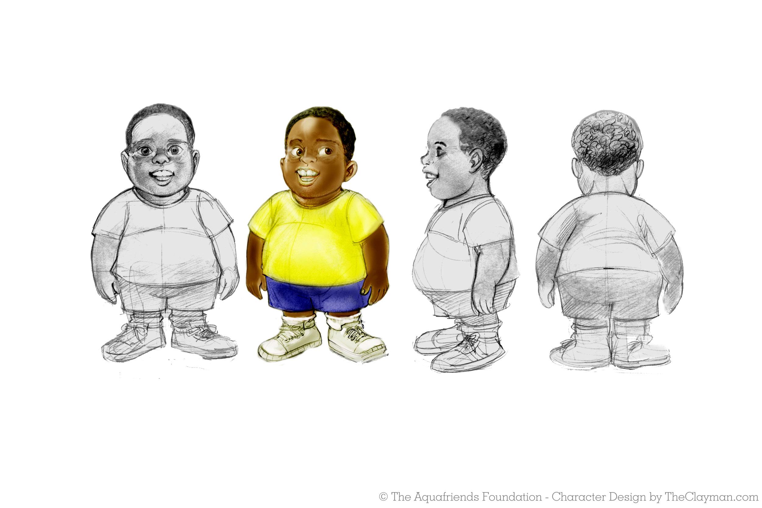 Cartoon Character Design Service : Cartoon character design development the clayman d